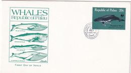 Palau 1983, FDC WWF Whales - Palau