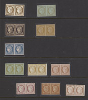 France 1849-52 Essays And Colour Trials 10c. Brown, 10c. Pale Brown On Greenish, 20c. Black, 20c. Yellow, 25c. Blue, 40c - Sin Clasificación