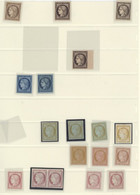 France 1849-52 Essays And Colour Trials 10c. (2), 15c. (5), 20c. (48), 25c. And 40c. (41), Various Colours, Shades, Pape - Sin Clasificación