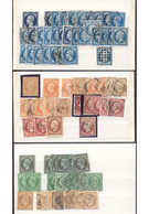 France  1849-1960 Duplicated Mint And Used Selection On Stockpages And Stockcards, Including 1849-52 With Values To 1f. - Sin Clasificación