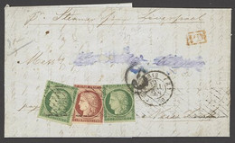 X France 1849-52 First Issue 1858 (10 May) Entire Letter To New York Endorsed 'per Steamer From Liverpool', Bearing 15c. - Sin Clasificación