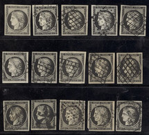 France 1849-52 First Issue 1849 20c. Black On Yellow And Black On White, A Selection (15) Comprising An Unused Example W - Sin Clasificación