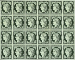 France 1849-52 First Issue 20c. Black On White, Block Of Twenty-four - Sin Clasificación