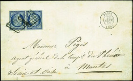 """France 1849-52 First Issue 25c. Deep Blue """"face To Face"""" Horizontal Tête-bêche Pair, - Sin Clasificación"""