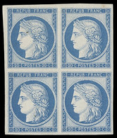France 1849-52 First Issue 1850 (Jun.) 20c. Dull Blue, Prepared For Use But Not Issued, Block Of Four With Good Margins; - Sin Clasificación