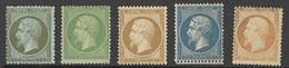"""X France 1862 Perforated """"Empire"""" Issue 1c. To 40c. Unused With Part Original Gum; 10c. Regummed, 20c. Slightly Toned Gu - Sin Clasificación"""