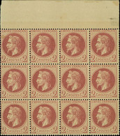 """France 1862-70 """"Empire"""" Laureated Issue 2c. Red-brown Type I, Block Of Twelve (4x3) - Sin Clasificación"""