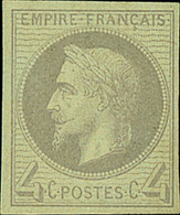 """France 1862-70 """"Empire"""" Laureated Issue 4c. Grey Imperforate Rothschild Printing, Unmounted Mint, Fine. Spink Maury 27II - Sin Clasificación"""