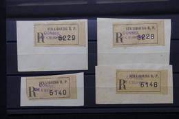 FRANCE - Lot De 4 étiquettes En Recommandé Du Conseil De L 'Europe à Strasbourg Sur Fragment - L 79704 - 1921-1960: Période Moderne