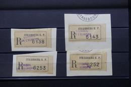 FRANCE - Lot De 4 étiquettes En Recommandé Du Conseil De L 'Europe à Strasbourg Sur Fragment - L 79706 - 1921-1960: Période Moderne