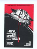 Calendrier Festival Film Fantastique Bruxelles 1993 Sokal 7 X 10,5 Cm Bande Dessinée Reproduction Affiche Chat - Klein Formaat: 1991-00