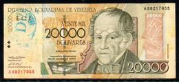 552-Venezuela Billet De 20 000 Bolivares 2001 A882 + Contremarque - Venezuela