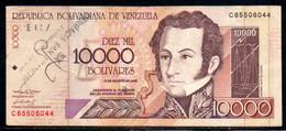 552-Venezuela Billet De 10 000 Bolivares 2002 C655 + Contremarque - Venezuela