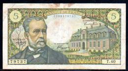 554-France Billet De 5 Francs 1966 D T40 - 5 F 1966-1970 ''Pasteur''