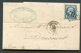 FRANCE ( OBLITERATION LOSANGE )  GC  3112  Rennes   Ille-et-Vilaine   SUR  LETTRE , A  SAISIR . - 1849-1876: Klassieke Periode