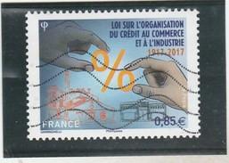 FRANCE 2017 LOI SUR L ORGANISATION DU CREDIT AU COMMERCE ET A L INDUSTRIE OBLITERE --TDA198A - Used Stamps