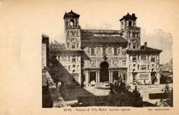 "Roma - Antica Cartolina Postale ""Carte Postale D'Italie"" PALAZZO VILLA MEDICI, FACCIATA INTERNA, Tipog. Pistolesi - D14D - Other Monuments & Buildings"