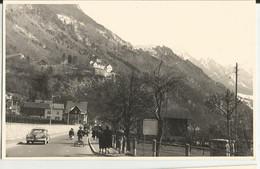 VADUZ (LIECHTENSTEIN) FOTOCARTOLINA PANORAMICA MOLTO MOVIMENTATA -ANNI '50 - Liechtenstein