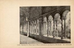 "Roma - Antica Cartolina Postale ""Carte Postale D'Italie"" BASILICA S. PAOLO (F. LE MURA) Chiostro Tipog. Pistolesi - D14D - Other Monuments & Buildings"