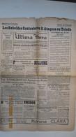 JOURNAL DE BOLIVIE / ULTIMA HORA / La Paz, 11 De Mayo De 1937 - Unclassified