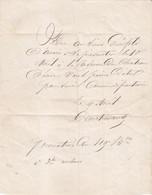 Guerre De 1870 Convocation à La Caserne Du Château D Eau 9 Avril 1871 Garde Nationale - 1849-1876: Periodo Classico