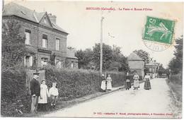 14 MEULLES - La Poste Et Route  D'ORBEC - Animée - Otros Municipios