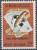 """BELGIQUE -  Liberté De La Presse - 50ème Anniversaire De La Création De L""""Agence Belga"""" - 1972"""