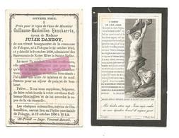 DD 527. GUILLAUME-MAXIMILIEN HENCKAERTS - Bourgmestre  De La Commune FOLOGNE -  FOLOGNE 1815 / 1890 - Devotion Images