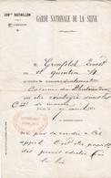 Guerre De 1870 Convocation à La Caserne Du Château D Eau  7 Avril 1871  Garde Nationale - 1849-1876: Classic Period