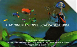 *ITALIA: GUINNESS* - Scheda Usata (variante NON CATALOGATA) - Errori & Varietà