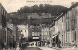 Thematiques 52 Haute Marne Joinville Rue Du Grand Pont Timbre Cachet 29 11 1917 - Joinville