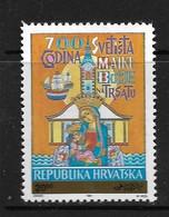 CROATIE 1991 SANCTUAIRE DE LA VIERGE DE TRSAT  YVERT N°B9  NEUF MNH** - Croacia