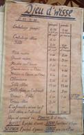 Tableau Tarif Djeu D'wisse Jeu De Whist En Wallon Namurois 1960 Joueurs Poncin, Buffet, Leroy, Stienon, Gilbert ...SUPER - Historische Dokumente