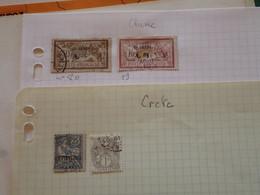 . 191.  LARGE COLLECTION.  FRENCH CRETE, CHINE CHINA . USED.  START. DEPART 1€ - Sammlungen (im Alben)