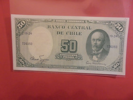 CHILI 50 PESOS/5 CENTIMOS Peu Circuler (B.21) - Chile