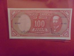 CHILI 100 PESOS/10 CENTIMOS Peu Circuler (B.21) - Chile