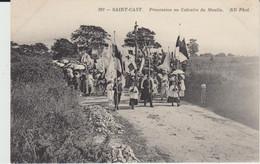 SAINT CAST (22) - Procession Au Calvaire Du Moulin -  Bon état - Sonstige Gemeinden