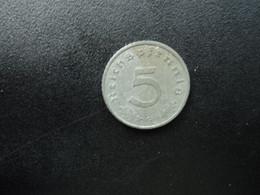 ALLEMAGNE * : 5 REICHSPFENNIG   1942 G **    KM 100     SUP - 5 Reichspfennig