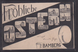 B18 /  Bamberg Mikroskopkarte Ostern 1906 - Bamberg