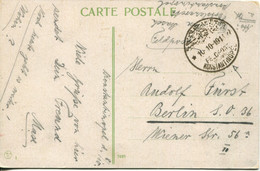 German Levant - Turkish Empire 1918 Field Post Office Postcard From Constantinople To Berlin - Offices: Turkish Empire