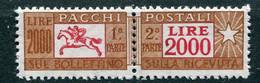 Pacchi - 2.000 Lire Fil. Stelle ** - Postal Parcels