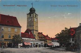 HERMANNSTADT NAGYSZEBEN ROMANIA~GROSSEN RING Und RATHAUSTURM~1918 FELDPOST POSTCARD 50254 - Romania