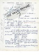 29 - Finistère - LANDIVISIAU - Facture OLIER - Hôtel De La Poste - 1935 - REF 176C - 1900 – 1949