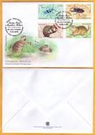2019 Moldova Moldavie FDC Red Book. Beetles, Gopher, Hamster Fauna Animals  Insects - Moldawien (Moldau)