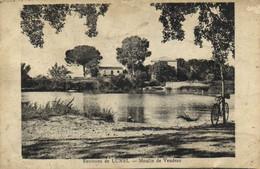 Environs De LUNEL  Moulin De Veudran Recto Verso - Lunel