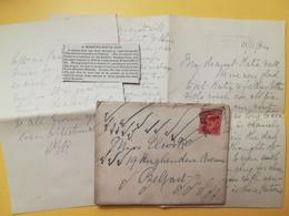 1904 BUSTA LETTERA GRAN BRETAGNA GREAT BRITAIN BOLLO RE EDOARDO KING EDOARD VII OBLITERE' BUXTON - Briefe U. Dokumente