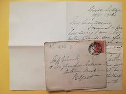 1904 BUSTA LETTERA GRAN BRETAGNA GREAT BRITAIN BOLLO RE EDOARDO KING EDOARD VII OBLITERE' BELFAST - Briefe U. Dokumente