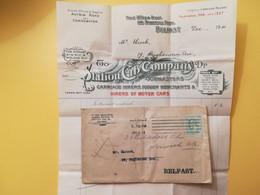1911 BUSTA LETTERA GRAN BRETAGNA GREAT BRITAIN BOLLO RE EDOARDO KING EDOARD VII OBLITERE' BELFAST FATTURA - Briefe U. Dokumente
