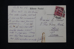 BRÉSIL - Affranchissement De Rio De Janeiro Sur Carte Postale ( Tramway ) En 1912 Pour La France - L 79773 - Briefe U. Dokumente