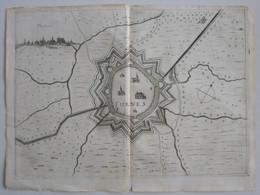 VEURNE. Furnes: Originele Kopergravure A°1673. - Prenten & Gravure